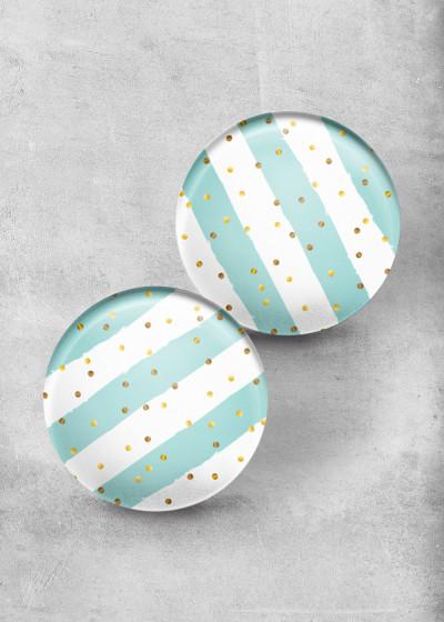 Konfetti Stripes Mint Print