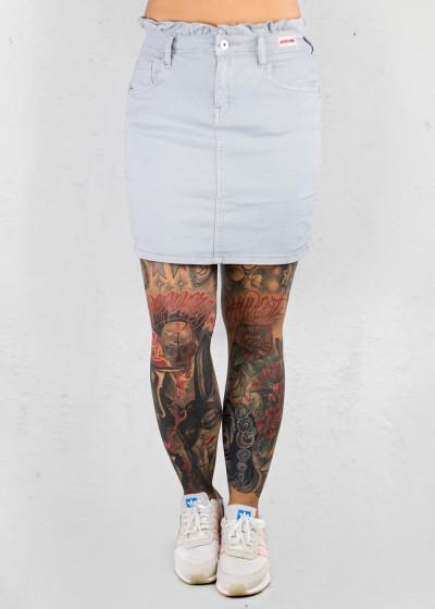 Gray Jeans Skirt