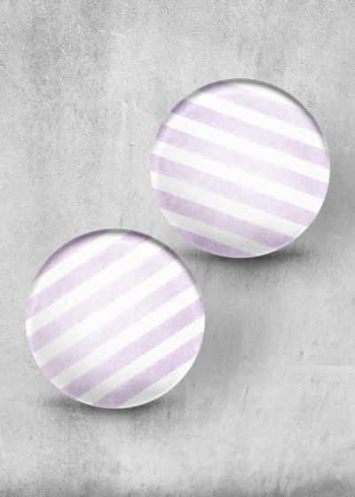 Stripes Lavendel Print