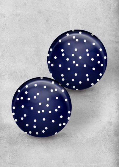 Dots Dark Blue Print