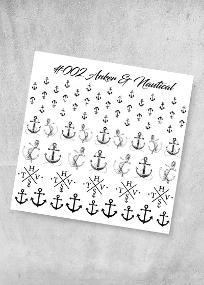 002 Anker & Nautical Nagel Folie