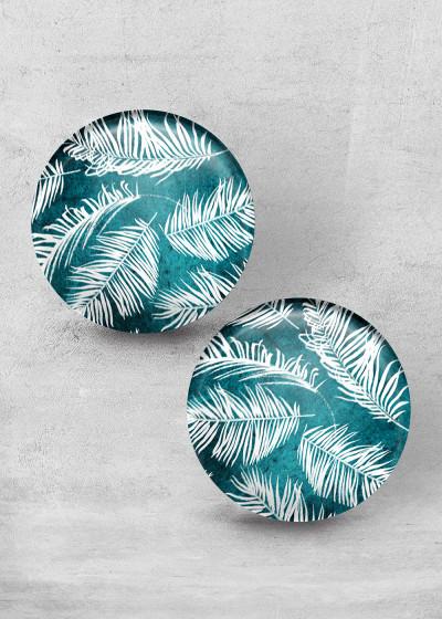 Palm Leafes Teal Print