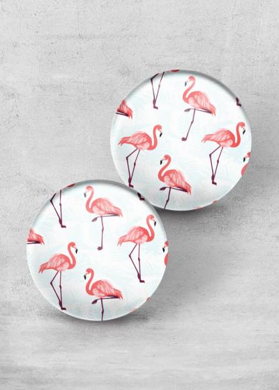 Light Flamingo Print