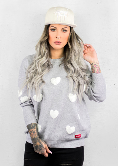 Hearted Sweater Heather Gray