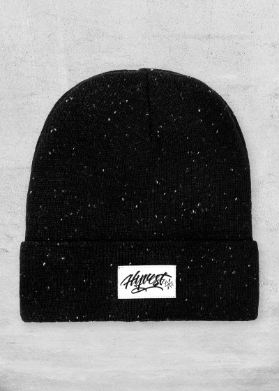 Beanie Heathered Black