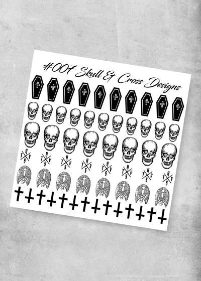 007 Skull & Cross Nagel Folie