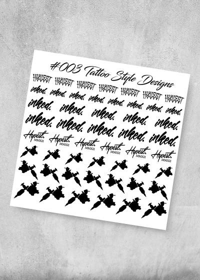 003 Tattoo Style Nagel Folie